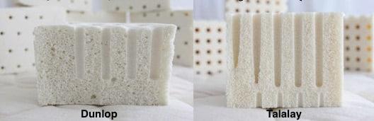 Latex vs Talalaly latex foam
