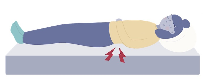 sleeper with back pain