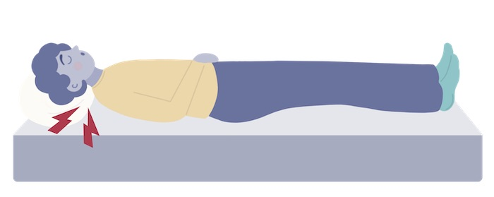 sleeper with neck pain