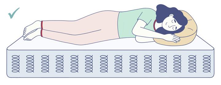 Side Sleeper On An Innerspring Mattress