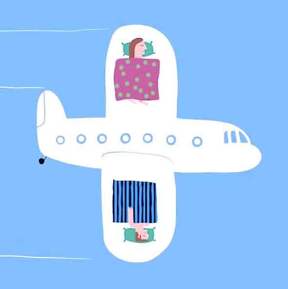 Sleep on a plane tips