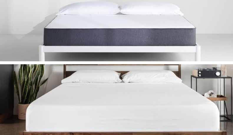 Two mattresses are compared.