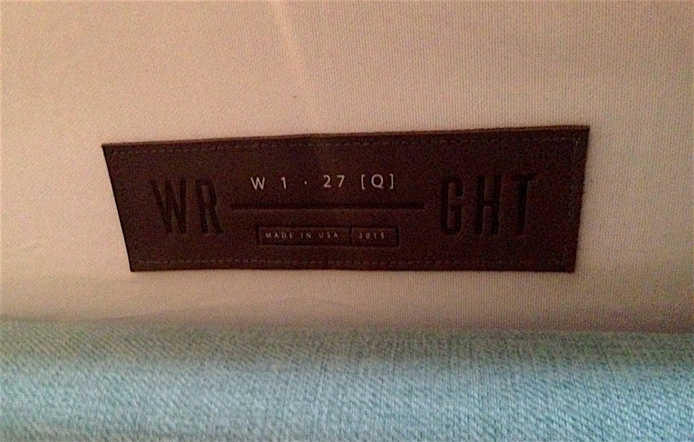 Wright mattress label