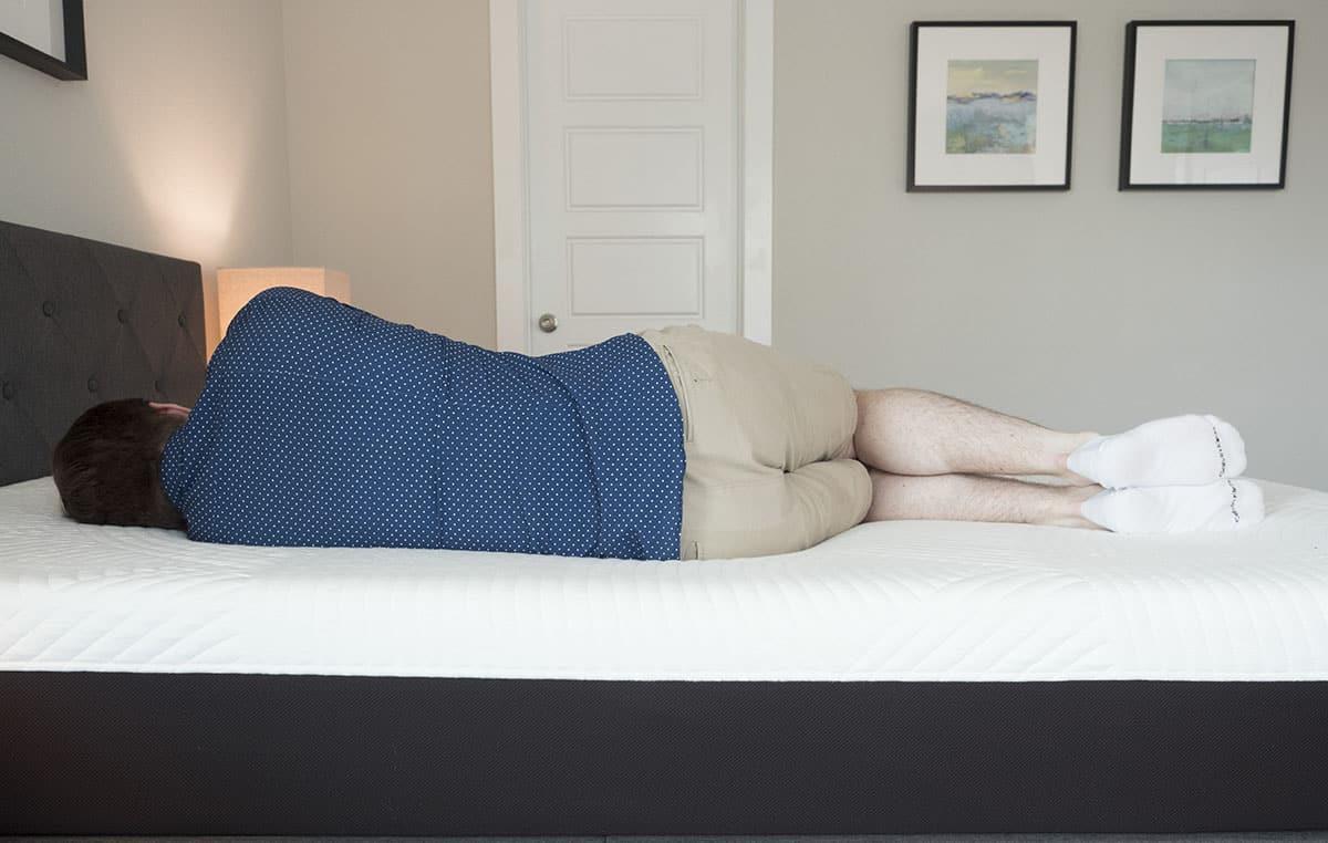 Nolah mattress - side sleeping