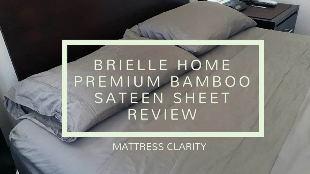 Brielle Home Sateen Bamboo Sheet Review