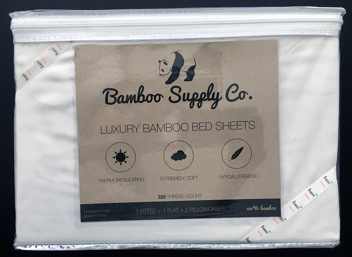 This is my review of Bamboo Supply Co,'s Luxury Bamboo Sheets. The sheets are extremely soft and lightweight and made from 100% rayon from bamboo. They come in three colors and are machine washable and dryer-friendly. They are said to be hypoallergenic and theromregulation and I had no issues with wear but did have some issues with the thermoregulation. I still woke up cold and/or hot at times during the review. They also wrinkle easily but overall very soft luxurious sheets.
