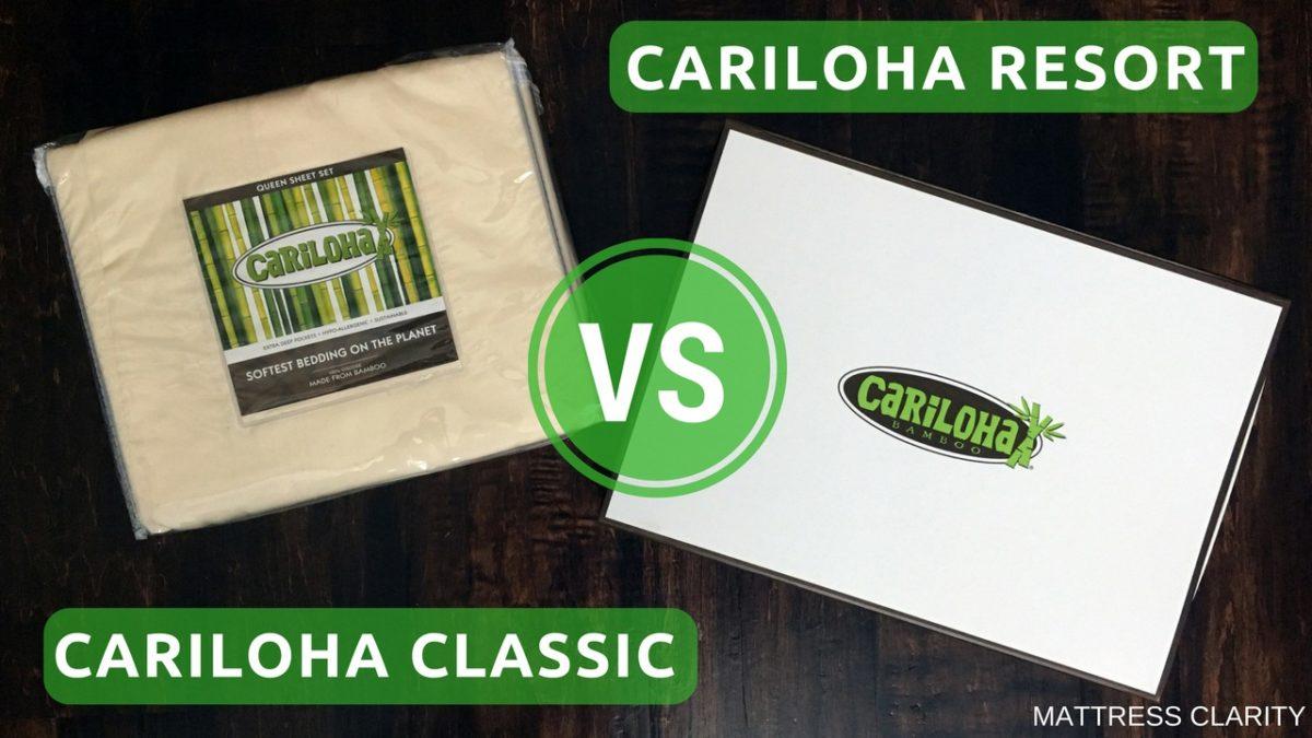 Cariloha Bamboo Sheets Classic Vs Resort