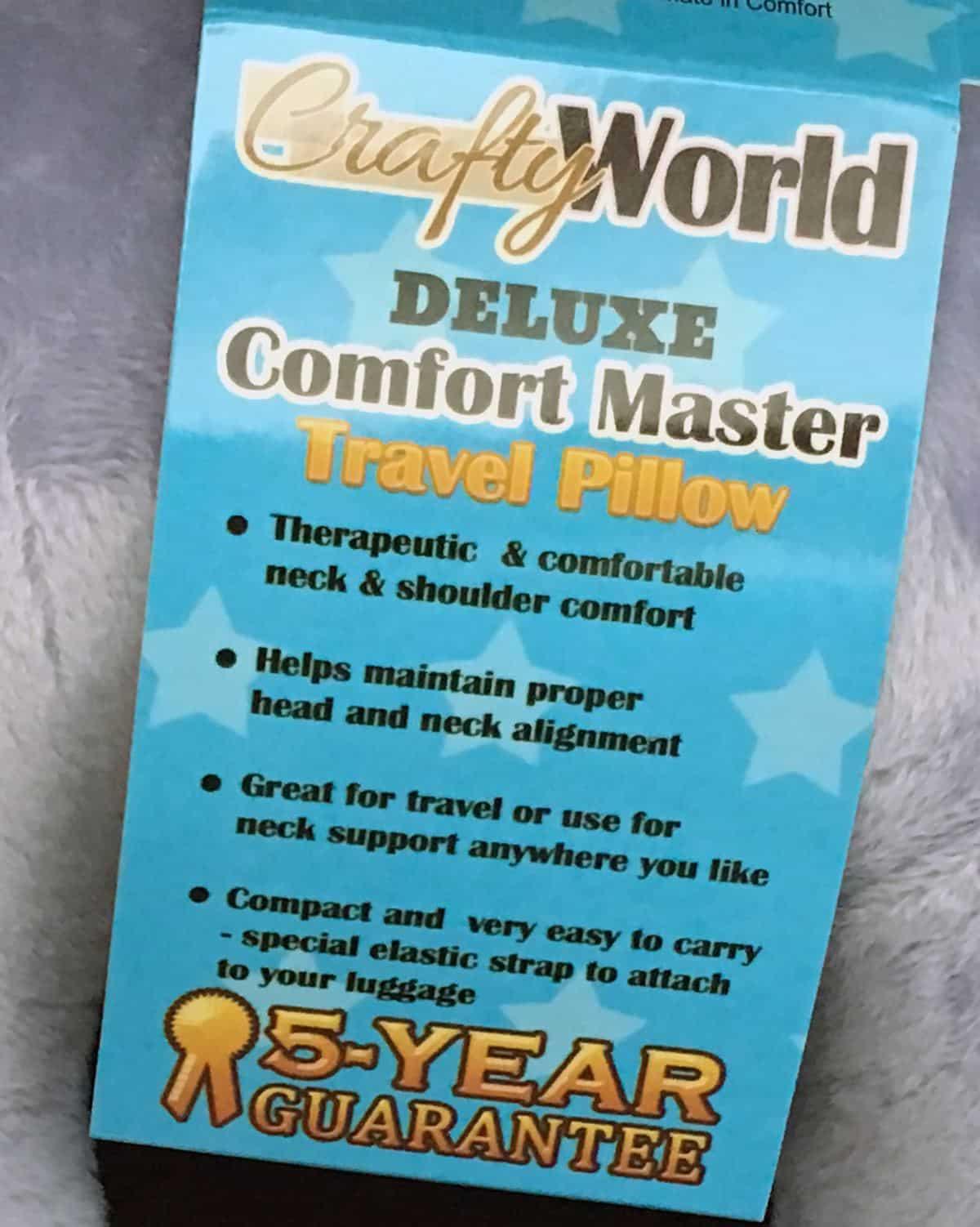 Comfort Master Memory Foam Travel Pillow Review