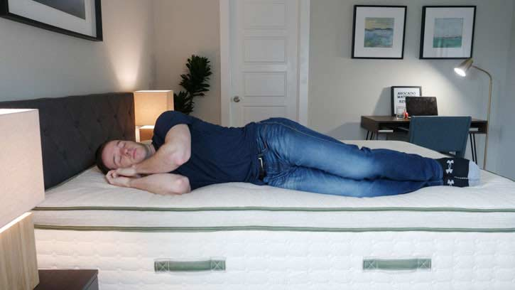 Avocado mattress for side sleeping