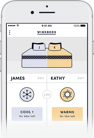 WinkBeds coolControl App