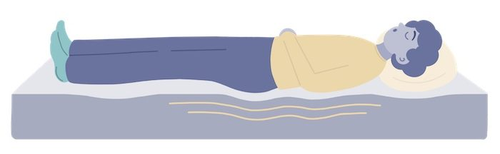 sinking into the mattress