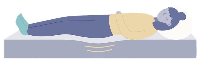 back sleeper on a mattress