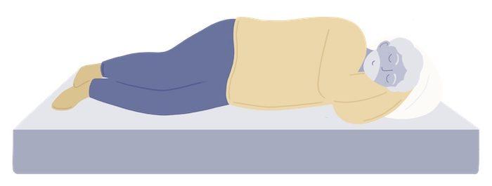 heavier sleeper on a mattress