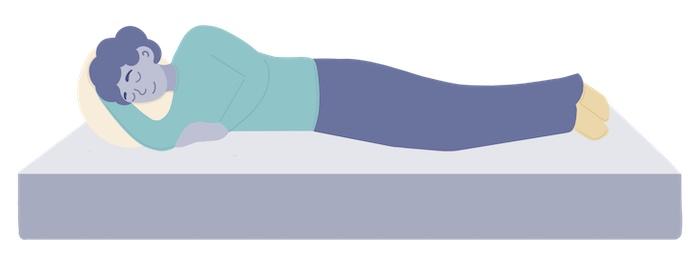 lighter weight sleeper on a mattress