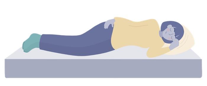 side sleeper on a mattress