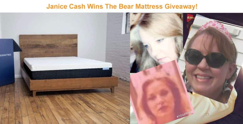 Bear Mattress Giveaway Winner