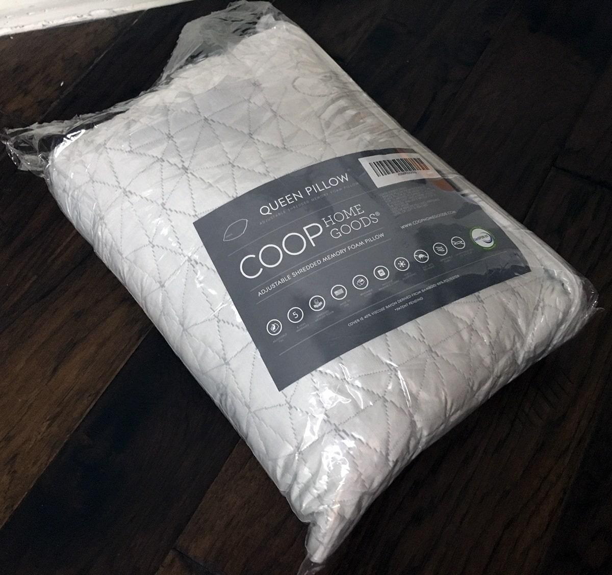 coop home goods adjustable shredded memory foam pillow. Black Bedroom Furniture Sets. Home Design Ideas