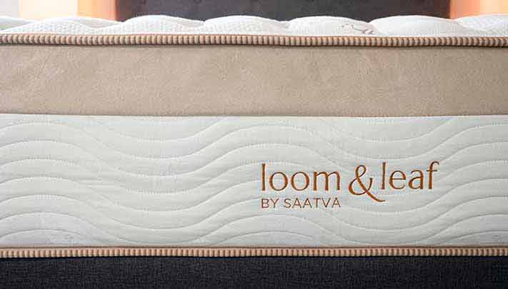 The side of a luxury mattress.