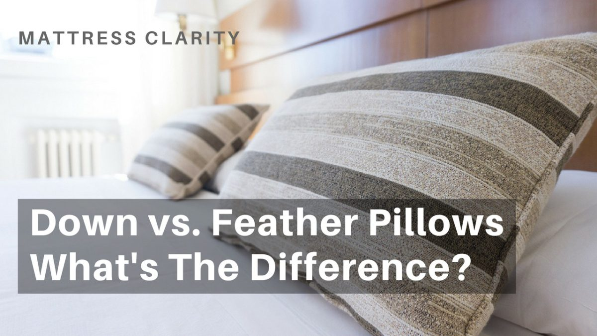 Down Vs Feather Pillows What S The Difference
