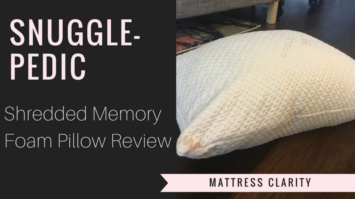 Snuggle Pedic Adjustable Shredded Memory Foam Pillow Review