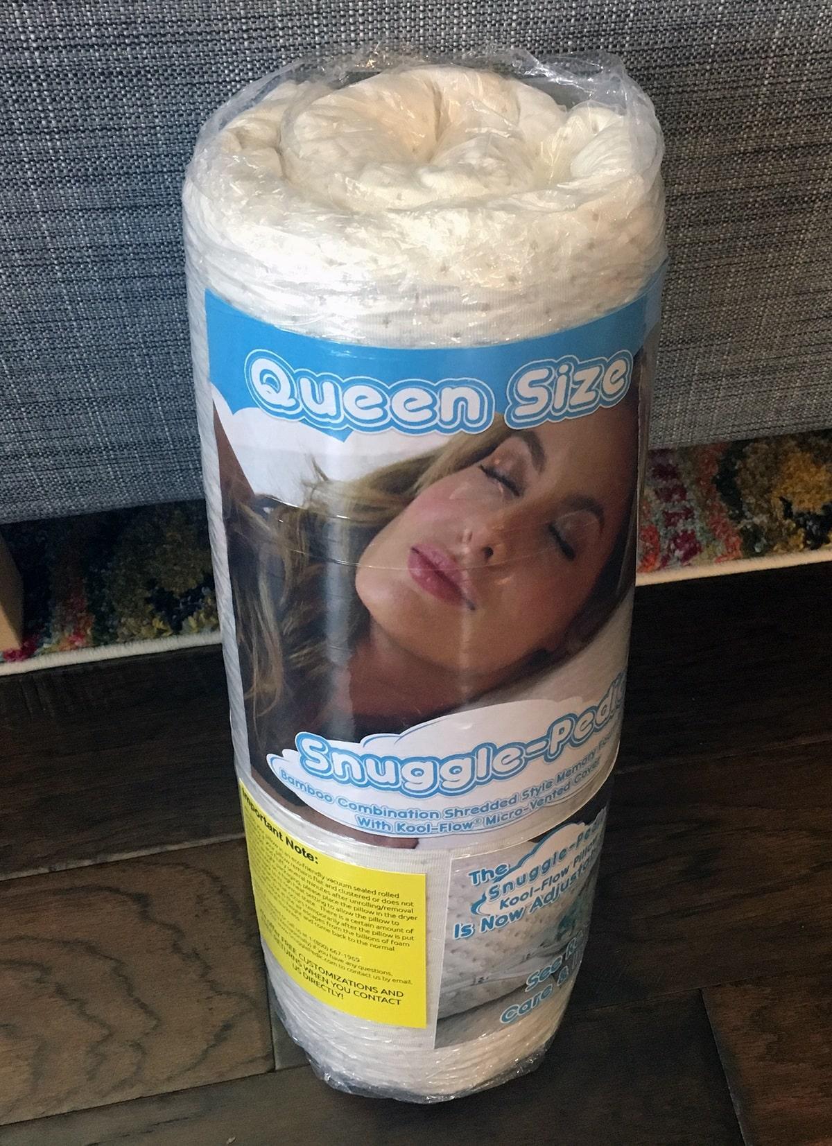 Snuggle-Pedic Adjustable Shredded Memory Foam Pillow Review