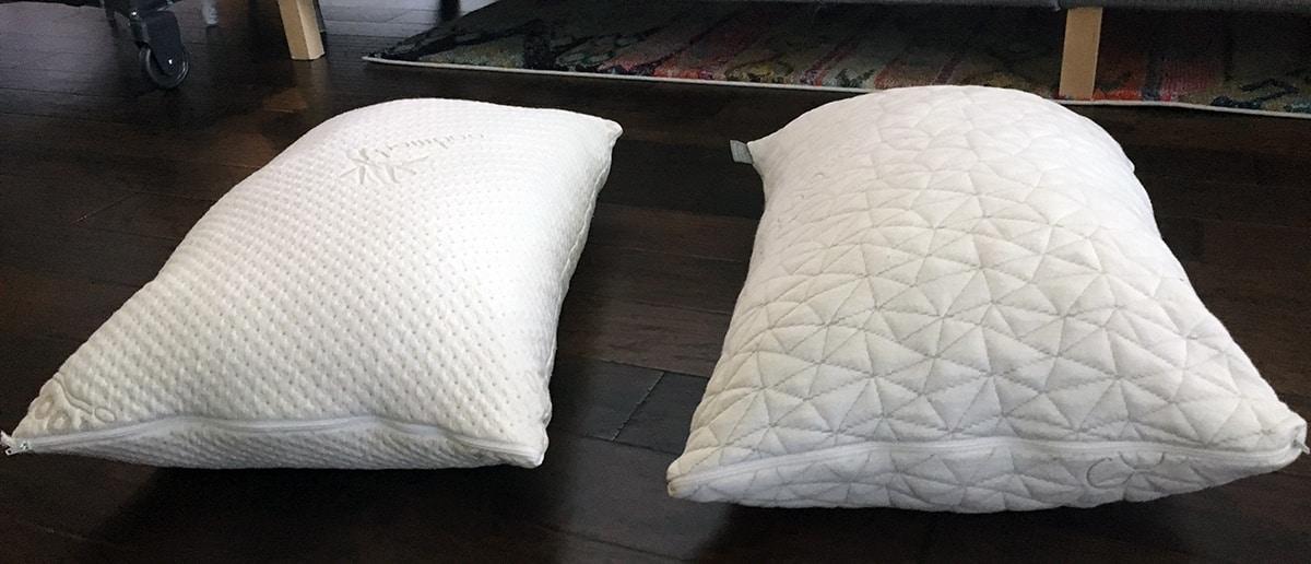 adjustable shredded foam pillow snuggle pedic vs coop home goods. Black Bedroom Furniture Sets. Home Design Ideas