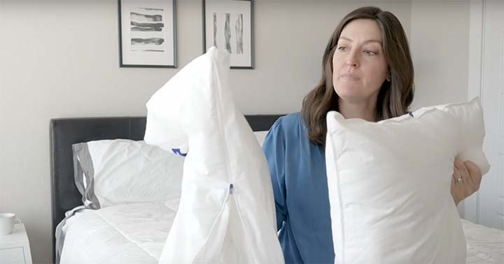 Casper Pillow Review - pillow in a pillow design