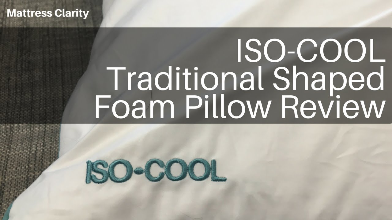 Iso Cool Traditional Shaped Foam Pillow Review Mattress
