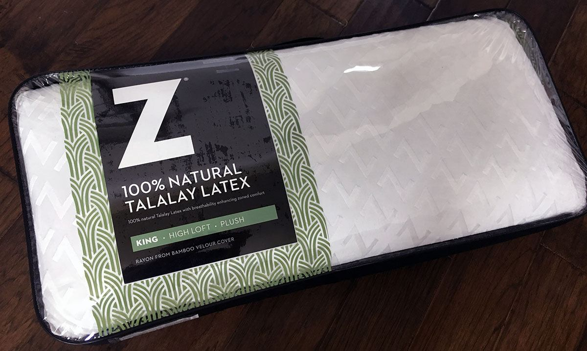 Z 100 Natural Talalay Latex Zoned Pillow Review