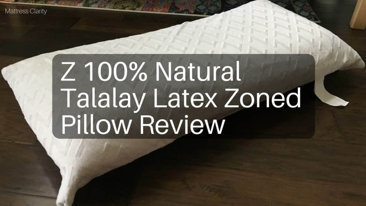 Z 100 natural talalay latex zoned pillow review for Brooklyn bedding talalay latex pillow