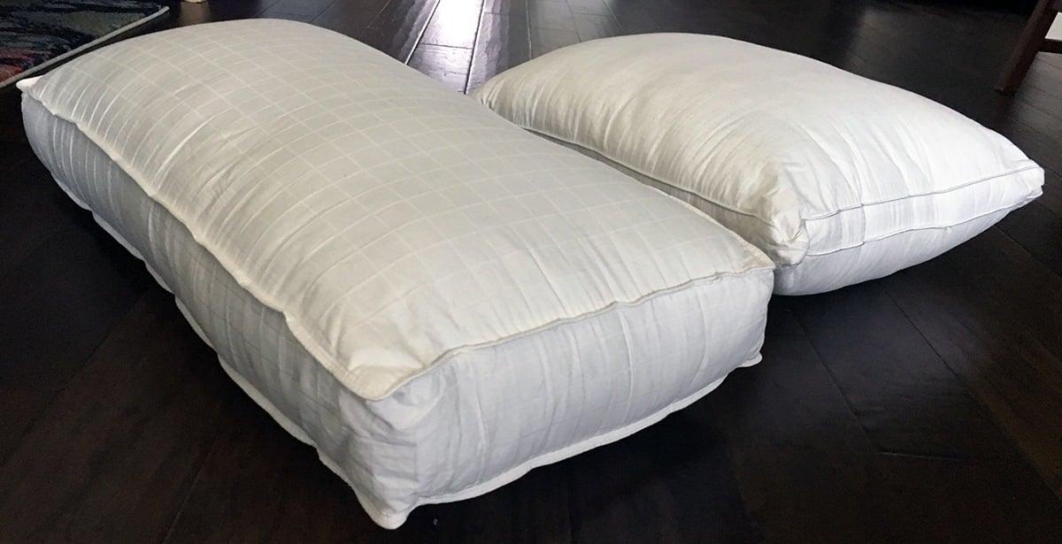 Pillow Reviews Beyond Down Gel Fiber Vs Five Star Down