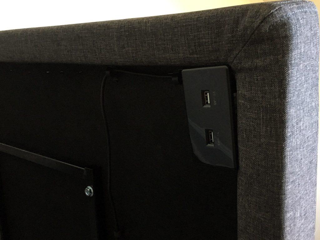 Lucid L300 Adjustable Bed Base USB Port