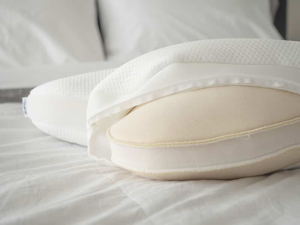 pillow with cover removed