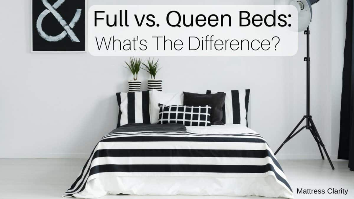 Picture of: Full Vs Queen Bed Size Mattress Dimensions
