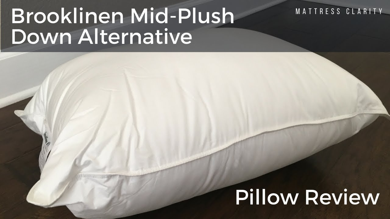 Brooklinen Mid Plush Down Alternative Pillow Review