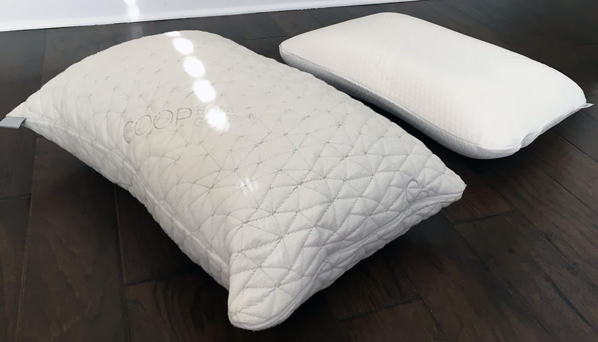 pillow reviews coop home goods vs tempur symphony. Black Bedroom Furniture Sets. Home Design Ideas