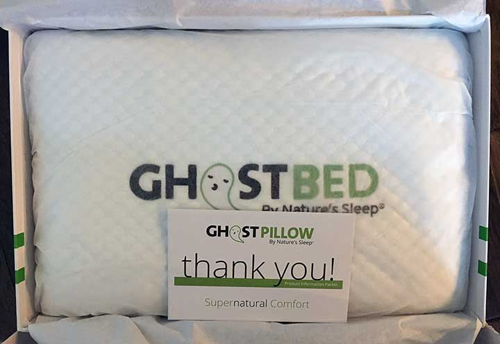 GhostPillow Pillow review - ghost ice fabric cover