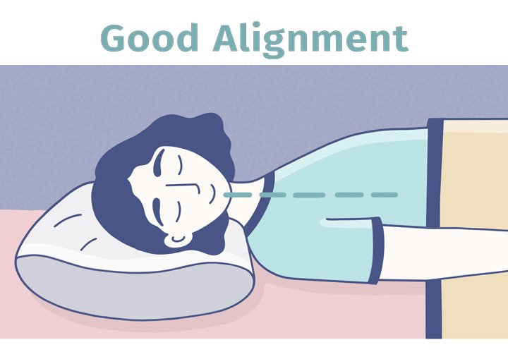 best pillows for back sleepers - proper neutral alignment