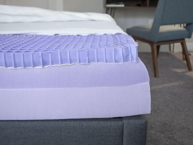 The interior of an online mattress.