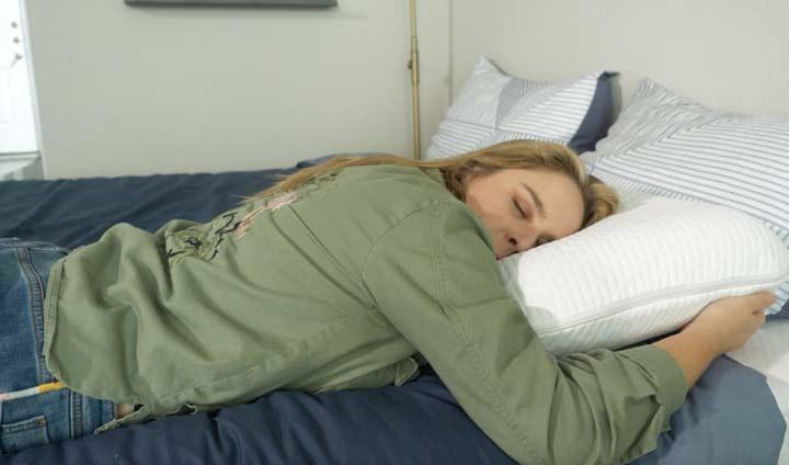 Tuft & Needle Pillow stomach sleeping