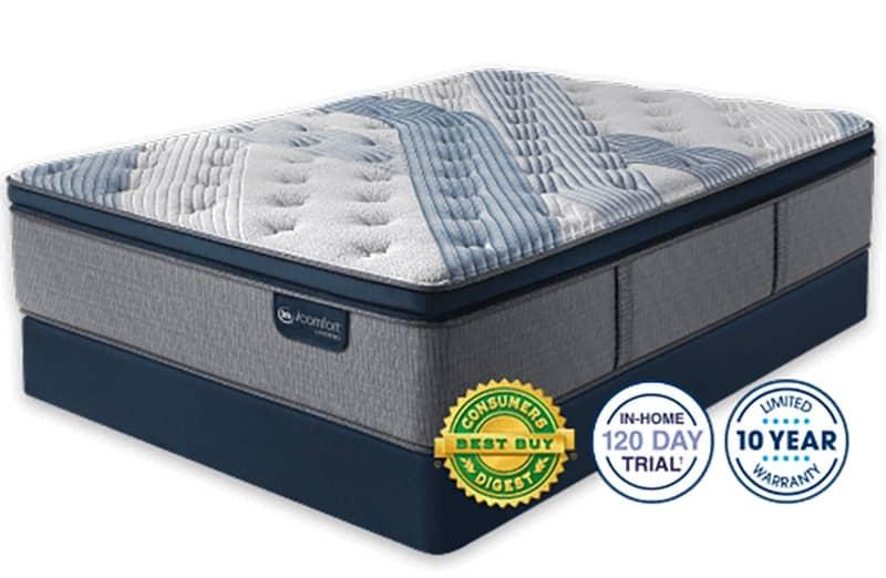 Blue Fusion 1000 Plush Pillow Top The Plushest Hybrid