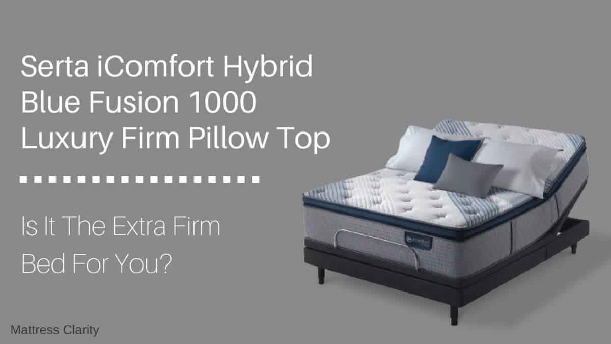 Blue Fusion 1000 Luxury Firm Pillow Top The Right Bed