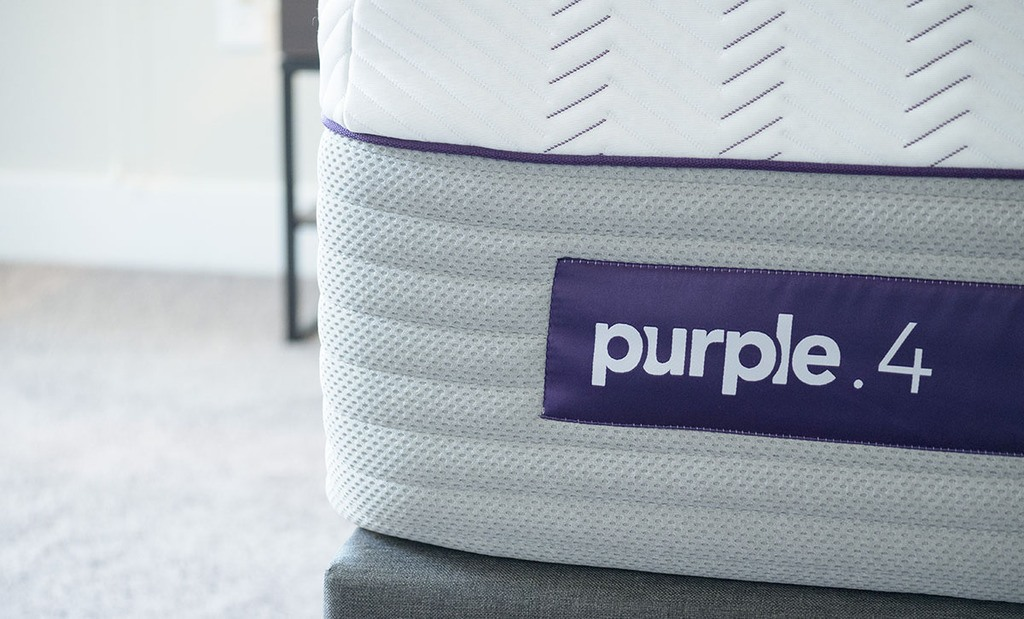 Purple Hybrid Premier Mattress Tag