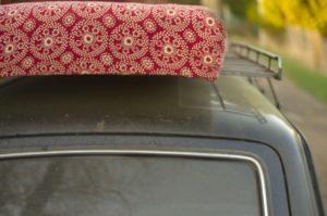 moving a mattress on a car