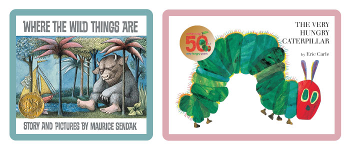Classic bedtime stories: Where The Wild Things Are, The Very Hungry Caterpillar