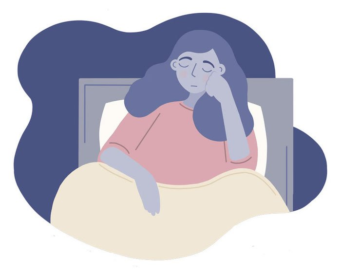 Woman experiences insomnia