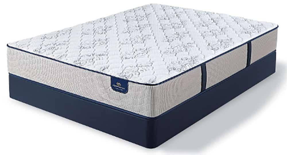 A full view of a mattress.