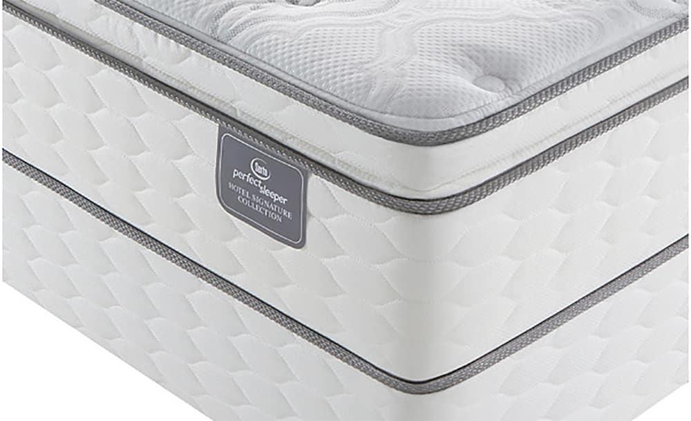 A close-up of a hybrid mattress.