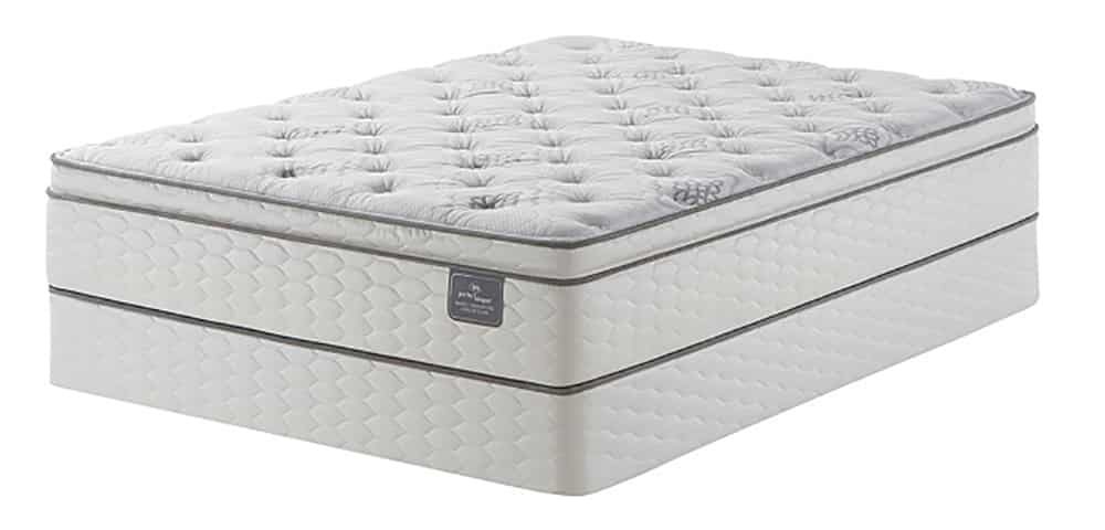 A hybrid mattress against a white background.