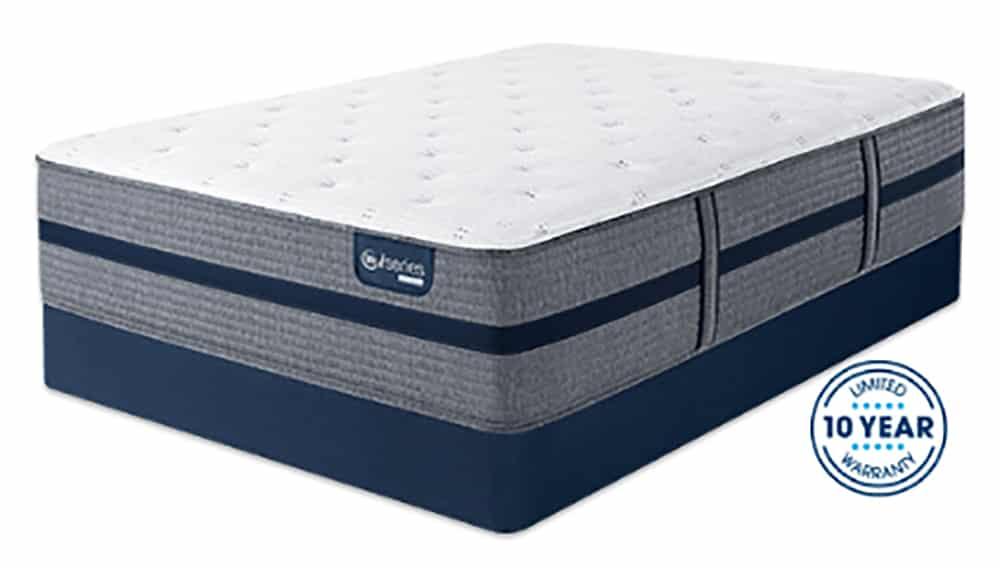 A hybrid mattress with certifications.